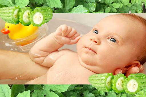 Mướp đắng có tính mát giúp da bé khỏe mạnh