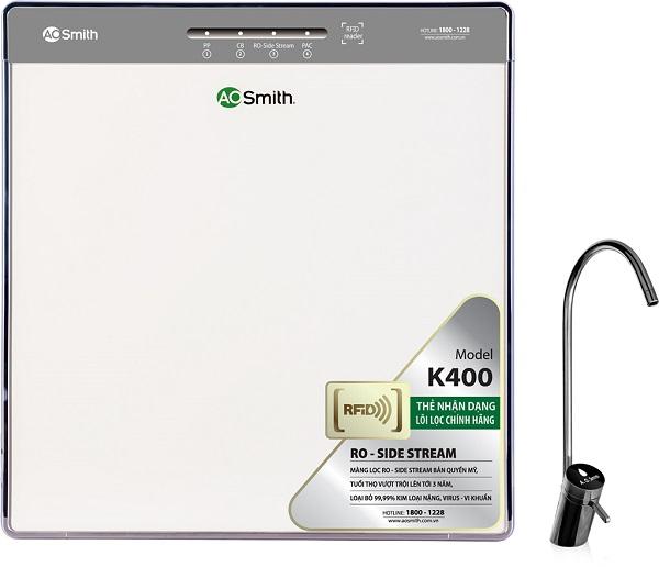 Máy lọc AO Smith K400 - Đảmbảo nguồn nước cung cấp cho người dùng