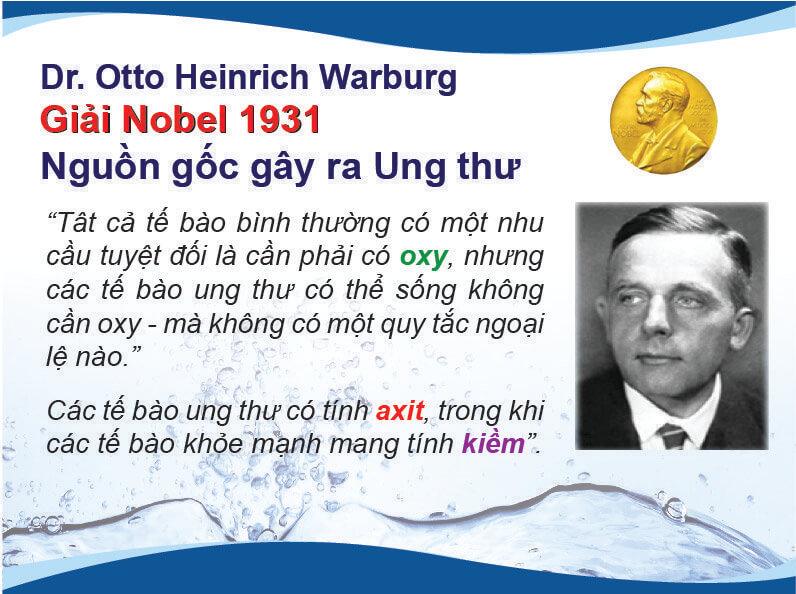 Otto Heinrich Warburg người duy nhất nhận được giải Nobel về y học năm 1931