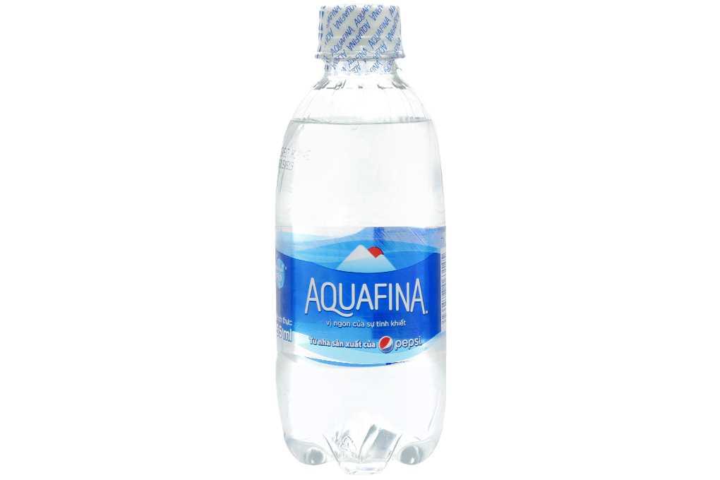 Nước uống tinh khiết Aquafina được nhiều người tin dùng