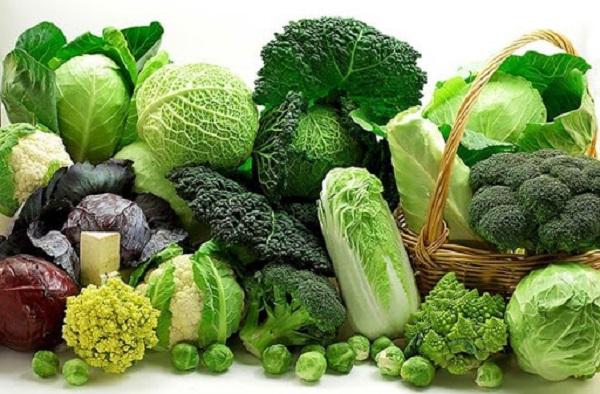 Các loại rau củ quả có màu xanh giúp cân bằng cung cấp thêm các hàm lượng K+, Na+ cần thiết
