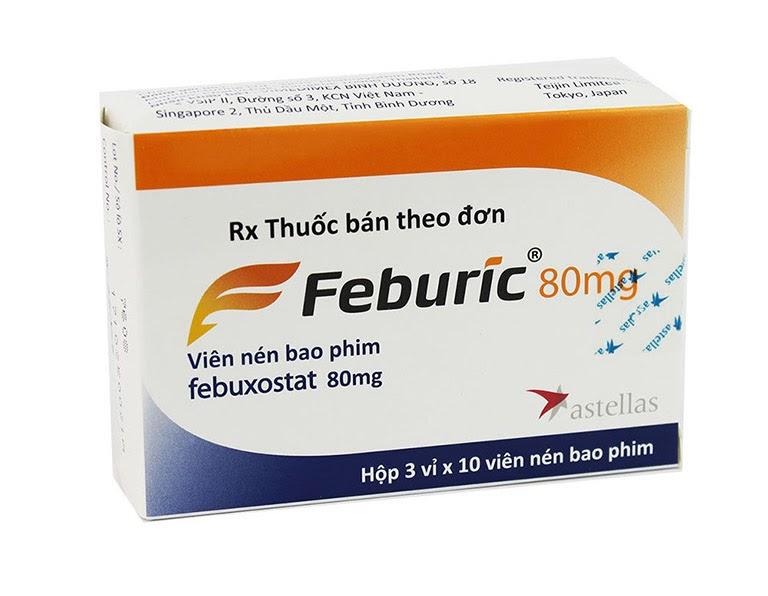 Hình ảnh thuốc febuxostat 80mg