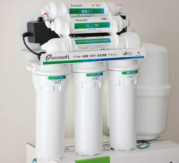 Máy lọc nước RO Ecosoft 6 lõi cam kết loại bỏ 100% các chất nguy hại trong nước