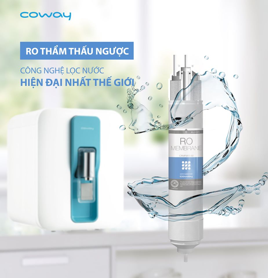 Máy lọc nước Coway sử dụng công nghệ lọc nước hiện đại, tiên tiến