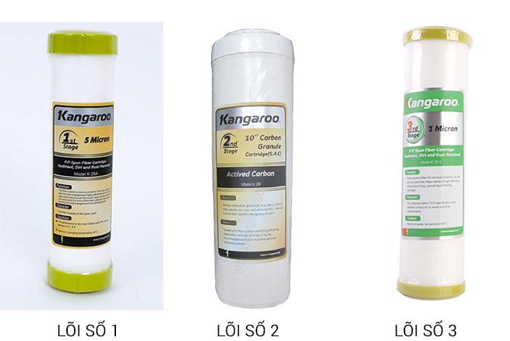 Thời gian để thay lõi lọc nước Kangaroo là khác nhau tùy vào từng lõi