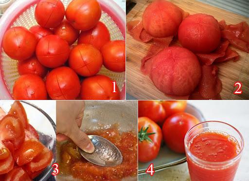 Làm nước cà chua đơn giản và dễ dàng tại nhà