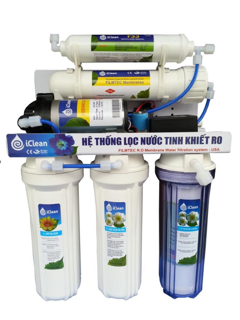 Thiết kế của các cột lọc của máy lọc nước iClean
