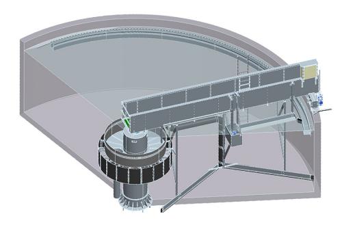 Bể lắng ly tâm được thiết kế gọn nhẹ